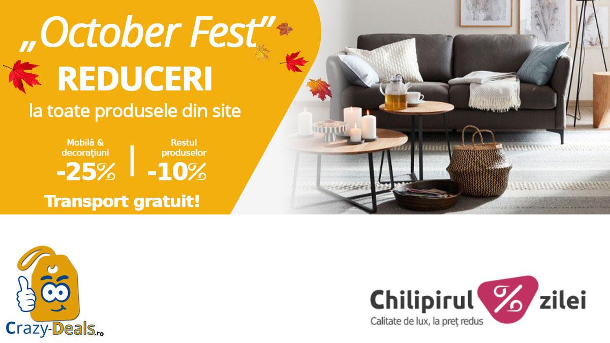 """""""October Fest"""" - Reduceri de pana la -25% la toate produsele pe Chilipirul Zilei"""