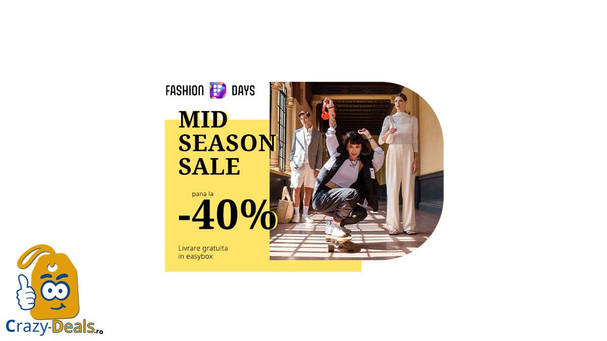 Reduceri FashionDays Mid Season Sale - pana la - 40%