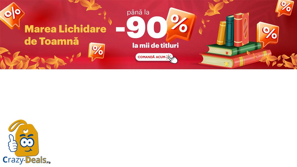 START Marea lichidare de toamnă pe Librex - reduceri de până la 90% + cărți de la 2,99 Lei