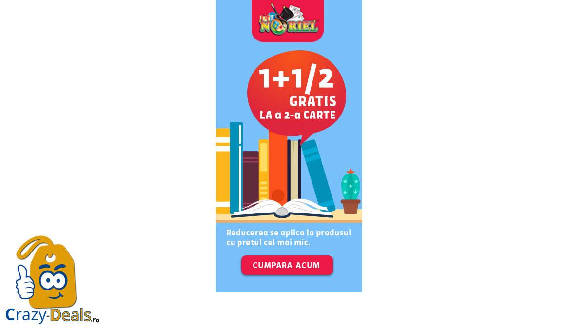 Reduceri Carti Noriel | 1 + 1/2 Gratis la a doua carte cumparata
