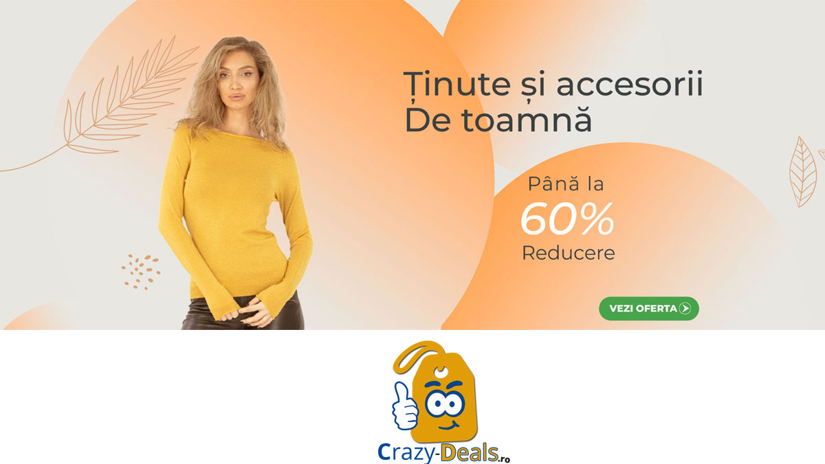Promotie Zenda Tinute si accesorii de toamna reduse cu pana la 60%